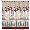 Snowmen Gathering Holiday Shower Curtain By Avanti