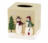 Snowmen Gathering Holiday Tissue Cover By Avanti