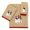 Snowmen Gathering Holiday Towels By Avanti
