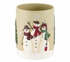 Snowmen Gathering Holiday Waste Basket By Avanti