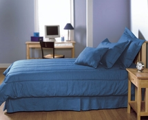 Solid Blue Denim Bedding & Accessories