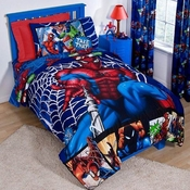Spiderman Comic Bedding for Kids