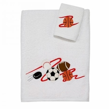 Sports Bath Towel/Washcloth Set by Avanti Linens