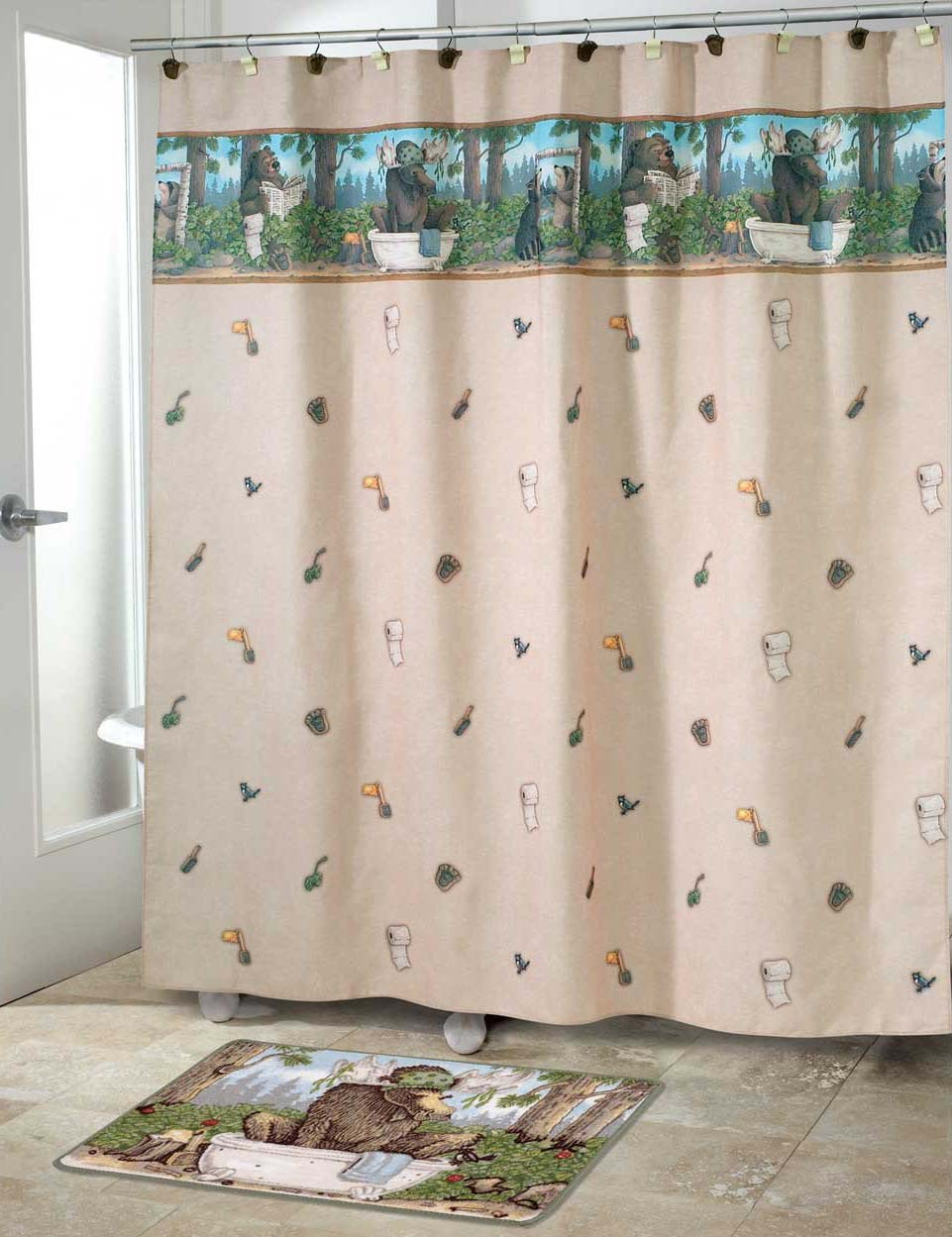 Taking Care of Business Shower Curtain & Accessories - Shower Curtains, Shower & Bath Accessories, Kids Shower Curtains