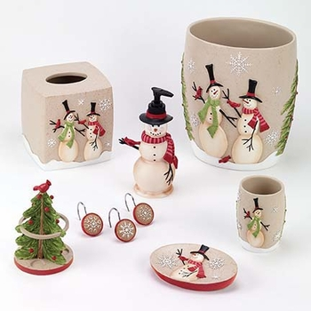 tall snowmen holiday bath collectionavanti linens