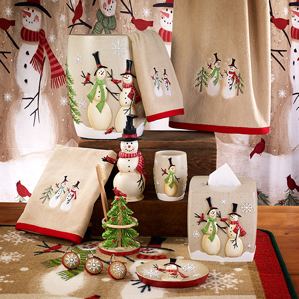 tall snowmen holiday bath collection by avanti linens