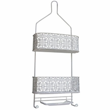 Taymor Lace Shower Caddy-Antique White