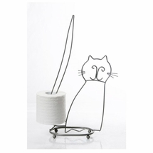 Taymor Sitting Cat Toilet Paper Holder