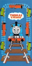 Thomas Tracks Beach Towel