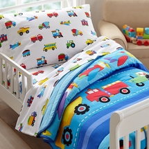 Trains Planes and Trucks Toddler Bedding