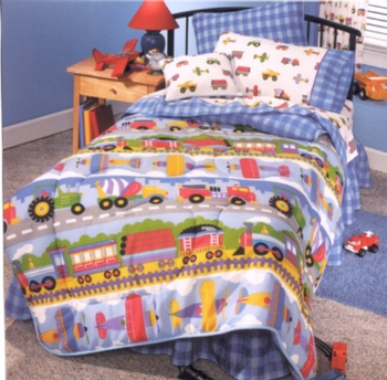 Trains Planes Trucks Comforter Olive Kids By Dan River