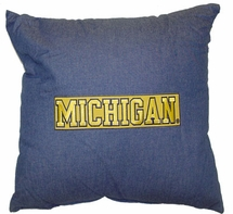 "University of Michigan 18"" Square Pillow"