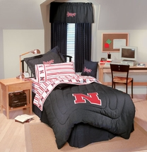 University of Nebraska Denim Pillow & Dorm Decor