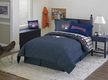 WASHINGTON NATIONALS Denim Comforter & Sheet Set Combo-Full Size