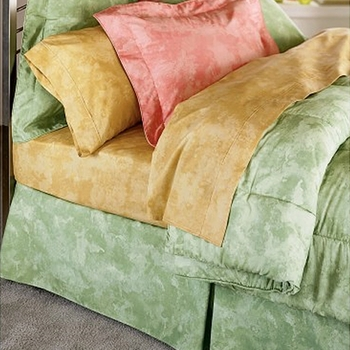 Watercolours California King Bedding Bed Skirts