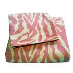 Zebra Sheet Set Pink