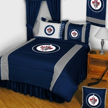 Winnipeg Jets NHL Hockey Bedding-Sidelines