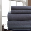 Winter Night Flannel Sheet Set-Charcoal