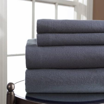 Winter Nights Flannel Sheet Set- 10 Solid Colors- 100% Cotton