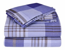 Winter Nights Plaid Flannel Sheet Sets 100-Percent Cotton