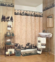 WOODLAND SILHOUETTES Shower Curtain & Accessories