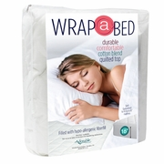 Wrap-A-Bed 3/4 Bed Quilted Mattress Pad-Fitted
