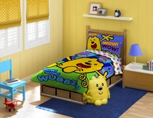 WUBBZY 4 PC Toddler Bedding  Set for Kids