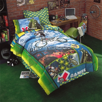 X Games Motocross Bedding Comforter Sheets Drapes