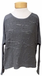 Amadi Pamela Burnout Top - Charcoal
