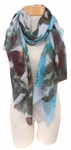 Banaris Cotton Scarf - Abstract Teal  SOLD OUT