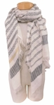 Banaris Cotton Scarf with 360 Fringe - Falcon - SOLD OUT