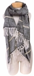 Banaris Cotton Scarf with 360 Fringe - Granite SOLD OUT