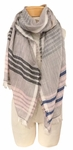 Banaris Cotton Scarf with 360 Fringe - Navy/Pink SOLD OUT