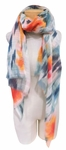 Banaris Cotton Scarf with Abstract Floral and Ikat Print - Springtide SOLD OUT