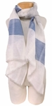 Banaris Linen and Cotton Scarf with Architectural Stripes - Azure - SOLD OUT