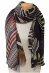 Banaris Merino and Silk Stole Individual Prints - Manhattan
