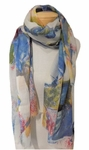Banaris Merino and Silk Stole Individual Prints - Riviera SOLD OUT