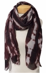 Banaris Merino and Silk Stole Individual Prints - Sunspot Maroon