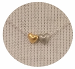 CAI Mixed Metal Two Heart Necklace - SOLD OUT