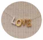 CAI Mixed Metals Love Necklace SOLD OUT
