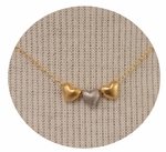 CAI Three Mixed Metals Heart Necklace SOLD OUT