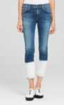 Citizens of Humanity Agnes Crop Mid Rise Slim Straight Jean - Euclid Bleach