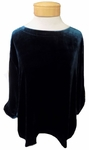 Eileen Fisher Velvet A-Line Ballet Neck Box Top - Blue Spruce - SOLD OUT