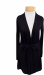 Eileen Fisher Belted Simple Cardigan - Black