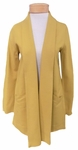 Eileen Fisher Boiled Wool Jersey Shawl Collar Long Jacket - Mustard Seed