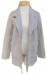Eileen Fisher Brushed Wool Double Face Reversible Notch Collar Jacket - Oatmeal