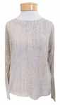 Eileen Fisher Fine Linen Crepe Melange Bateau Neck Top - Butter  Cream - SOLD OUT