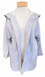 Eileen Fisher Heathered Cotton Doubleneck Hooded Kimono Jacket - Dark Pearl - SOLD OUT