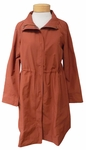 Eileen Fisher Light Organic Cotton Nylon High Collar Jacket - Paprika