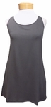 Eileen Fisher Lightweight Viscose Jersey Long Tank - Bark